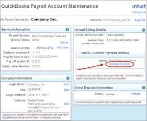 Quickbooks update billing information 2
