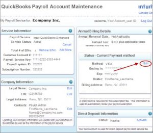 Update billing information for your QuickBooks Desktop Payroll subscription