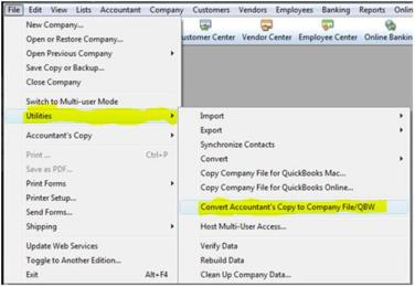 covert account copy to quickbooks file