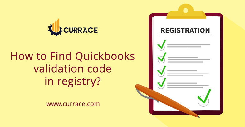 How to Find Quickbooks validation code in registry?