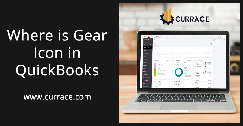 Where is Gear Icon in QuickBooks