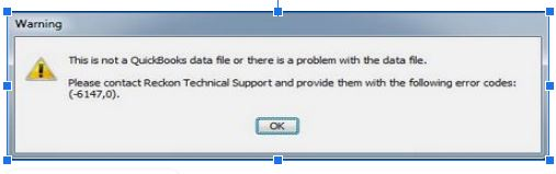Quickbooks 6147 error message